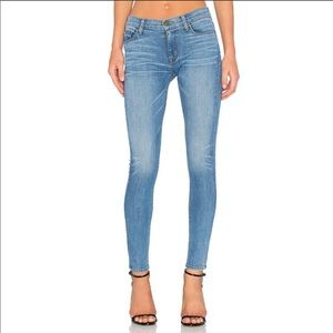 Hudson Nico Mid Rise Super Skinny Zipper Jeans
